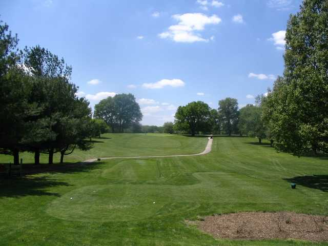 A view from a tee at Winding River Golf Club.
