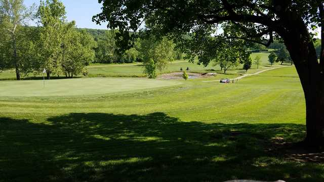 A view of a hole at Lake Valley Country Club.