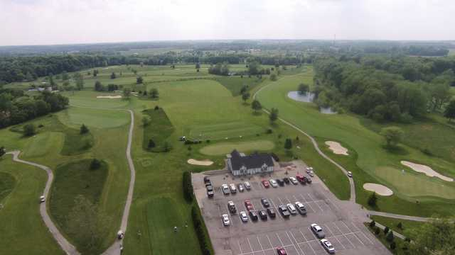 Aerial view from Royal Hylands Golf Club.