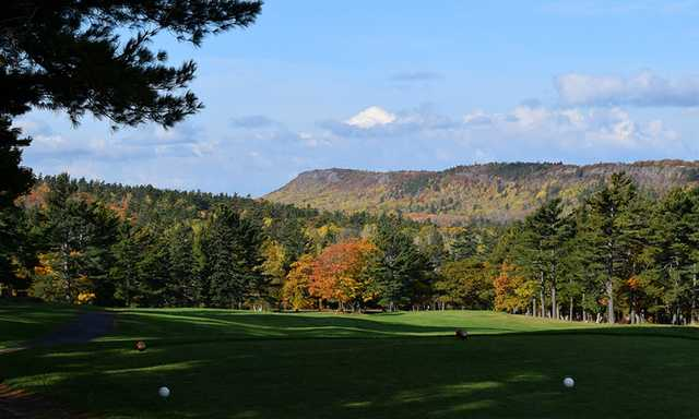 View from the 1st tee at Keweenaw Mountain Lodge Golf Course.