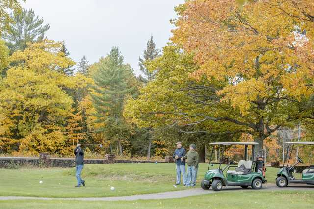 View of the 2nd tee at Keweenaw Mountain Lodge Golf Course.