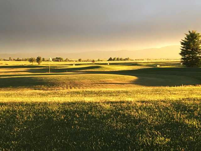 View of a green at Targhee Village Golf Course.
