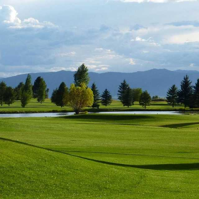 A view from Targhee Village Golf Course.