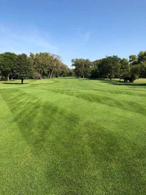 View from a fairway at Elkhorn Acres Golf Course.