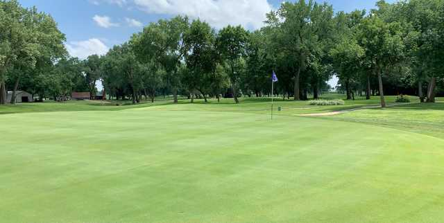 View from a green at Elkhorn Acres Golf Course.