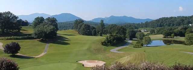 Panoramic view from Mountain Harbour Golf Club