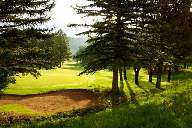 View of the 8th hole at Angel Fire Resort Country Club.
