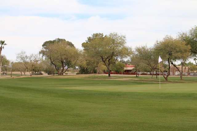 A view of a green at Dave White Golf Course.