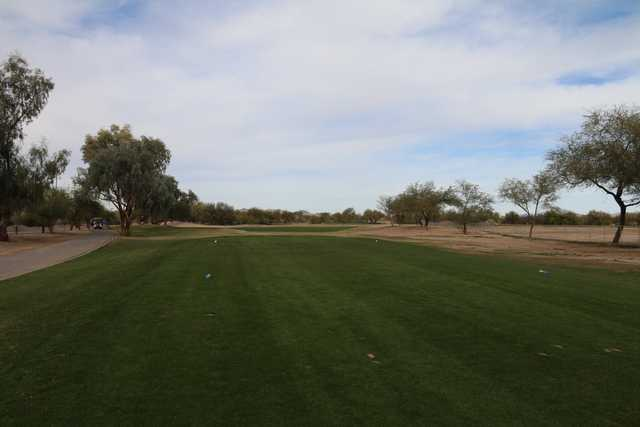 A view from a tee at Dave White Golf Course.