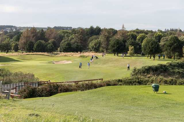A view from a tee at Blainroe Golf Club.