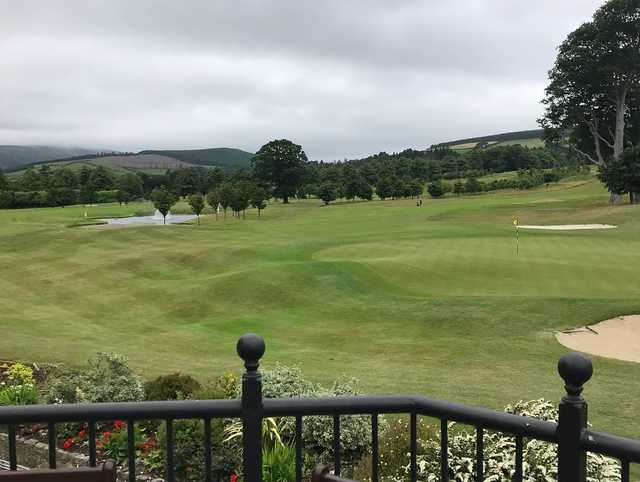 A view of a hole at Blainroe Golf Club.