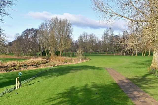 A view of a tee at Stony Holme Golf Club.