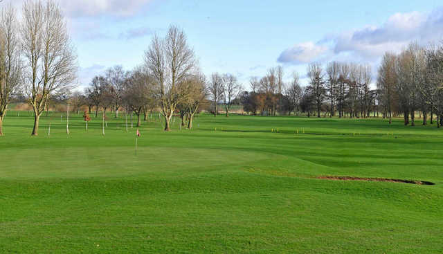 A view of a green at Stony Holme Golf Club.