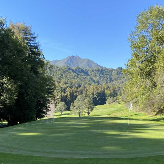 View from a green at Mill Valley Golf Course.