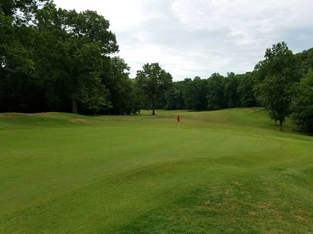 A view of the 6th hole at Montgomery Bell State Park Golf Course.