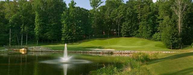 A view over the water of a hole at Smoke Rise Country Club.