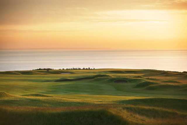 A view of the 9th hole at The Kittocks Course from Fairmont St. Andrews.