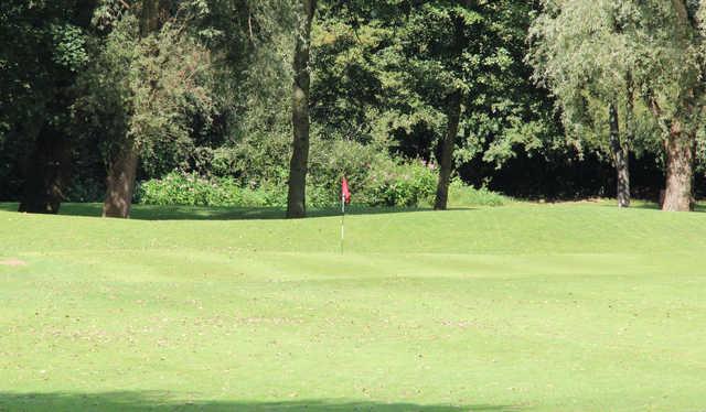 A view of a green at Pennington Golf Club.