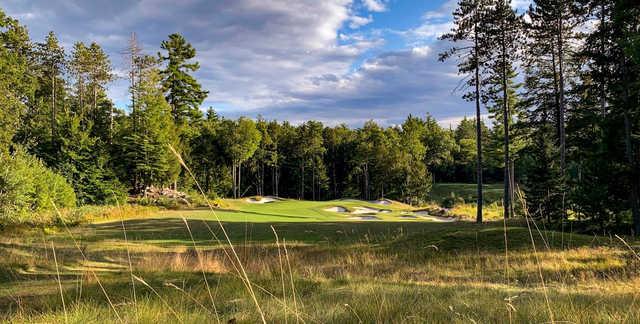 A view of hole #4 at Lake Winnipesaukee Golf Club.