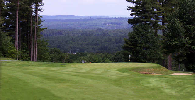 A view of a green at Martindale Country Club.