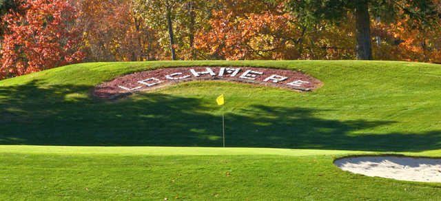 A sunny day view of a hole at Lochmere Golf & Country Club.