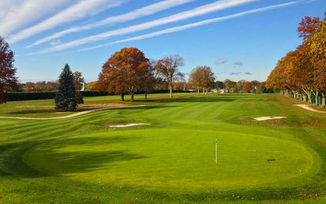 A view of hole and fairway #18 at Garden City Country Club.