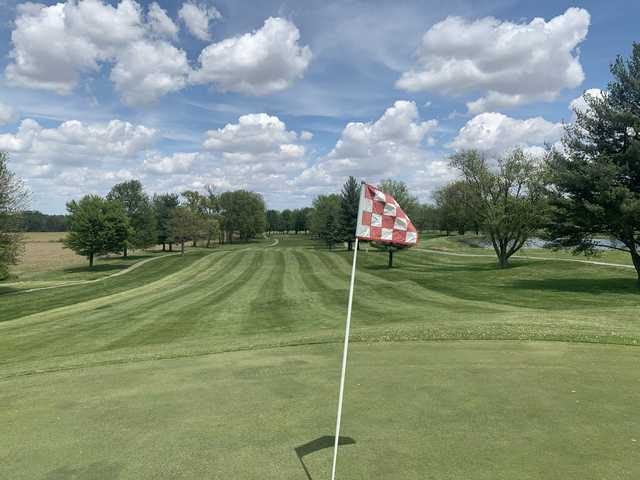Looking back from a green at High Pointe Country Club.