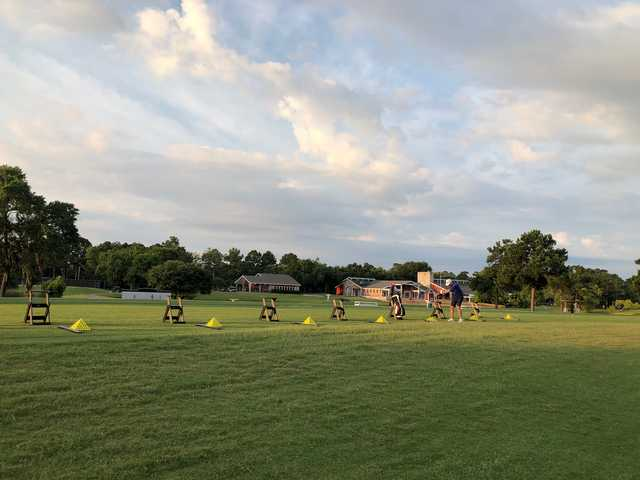 A view from the driving range at Atascocita Golf Club.