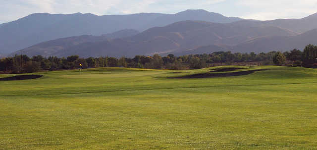 A view of a green at Eagle Valley Golf Course.