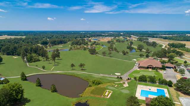 Aerial view from Lane Tree Golf Club.