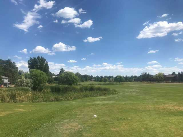 A view from a tee at Bison Golf Club.