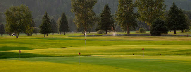 A view of a hole at Glacier View Golf Club.