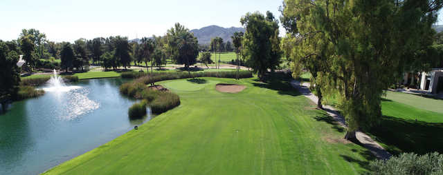 A view of a green at Orange Tree Golf Club.