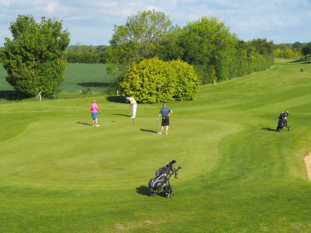 View of the 2nd green at Colmworth & North Beds Golf Club.