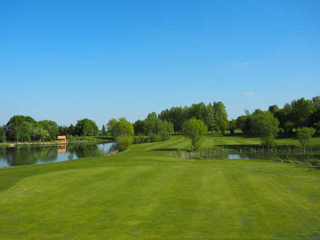 View from the 12th green at Colmworth & North Beds Golf Club.