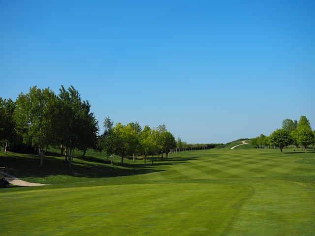 Looking back from the 16th green at Colmworth & North Beds Golf Club.
