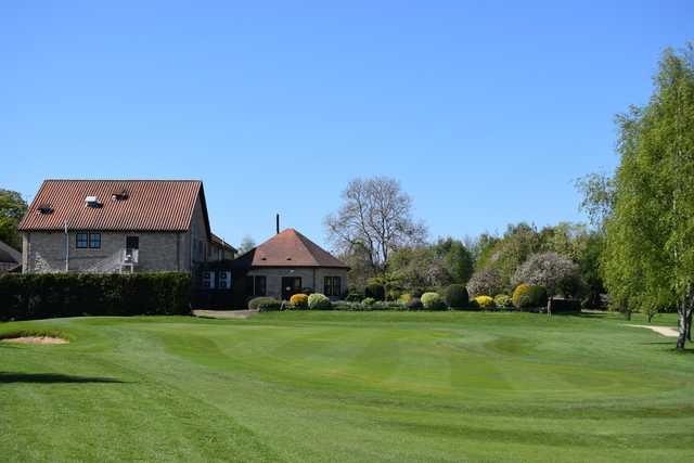 View of the 18th hole at Scarthingwell Golf Course.