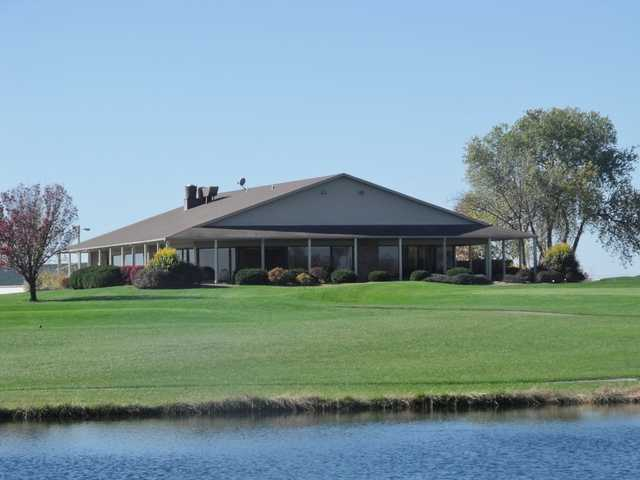 View of the clubhouse at Clinton Country Club.