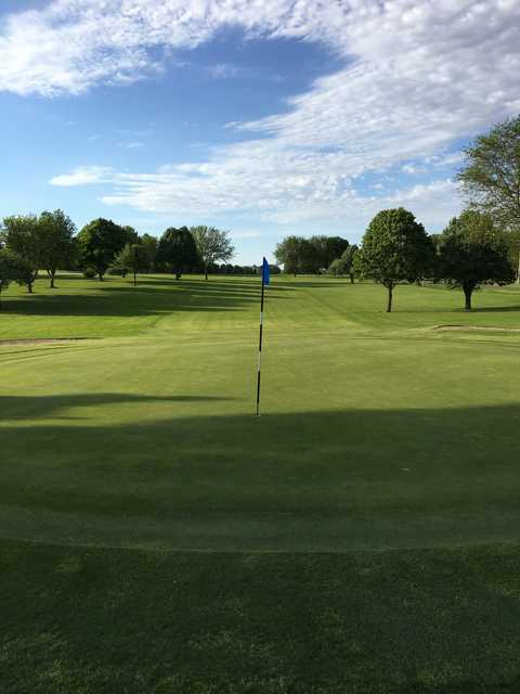 Looking back from the 10th green at Mendota Golf Course.