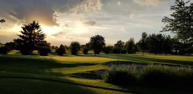 View of the 2nd hole at Mendota Golf Course.
