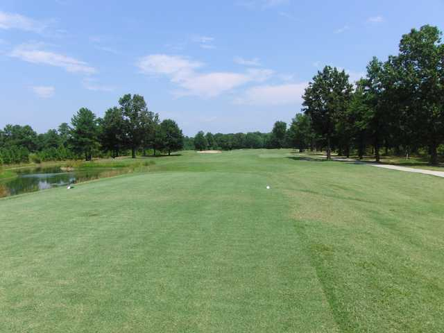 A view from a tee at Hobbs Hole Golf Course.