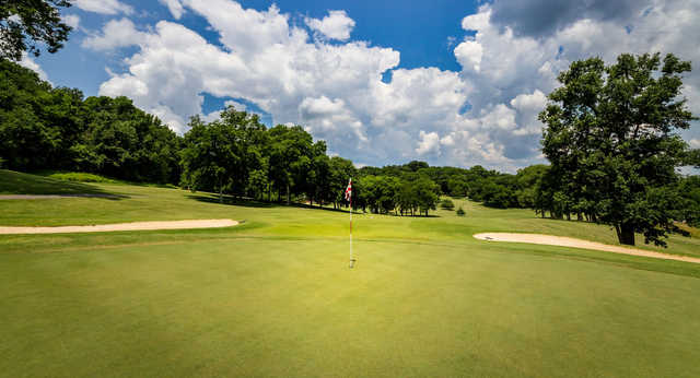 A view of a hole at Temple Hills Country Club.
