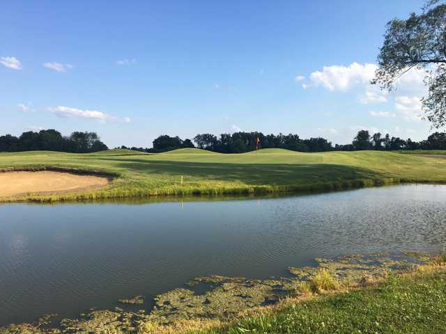 A view over thw water of a hole at Silo's Country Club.