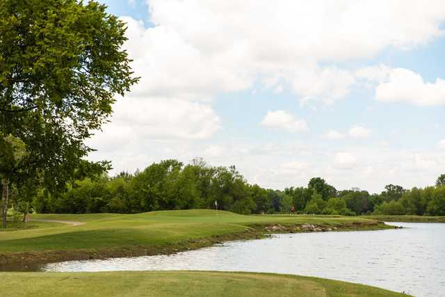 View of a green at Saddle Creek Golf Club.