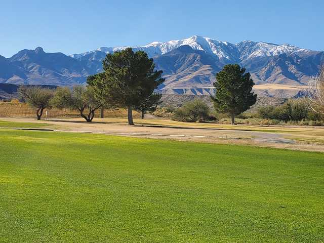 View from a fairway at Mt. Graham Golf Course.