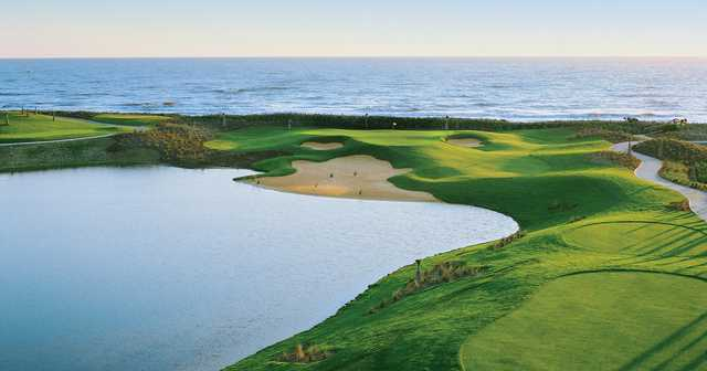 A view from a tee at The Ocean Course from Hammock Beach Resort.