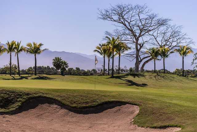 A view of a green from The Nayar Course at Vidanta Nuevo Vallarta.