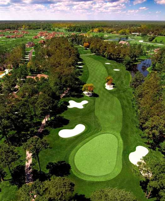 Aerial view of the 7th hole at Lion's Paw Golf Links
