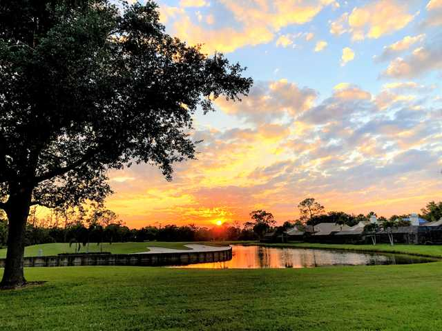 Sunset view from Eagle Creek Country Club