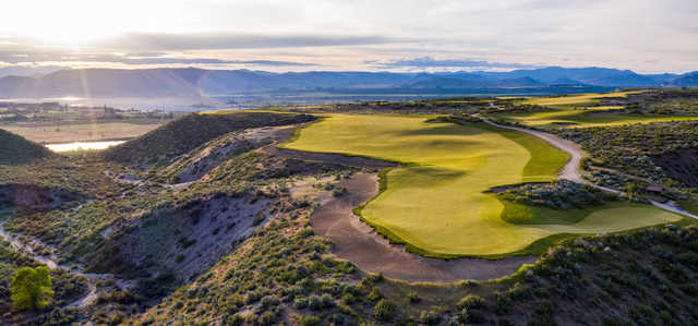 Looking back from the 5th green at Gamble Sands Golf Club.